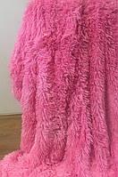 Покрывало на кровать с длинным ворсом  220х240 цвет розовый