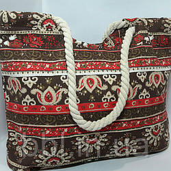 Пляжная сумка текстильная летняя Орнамент