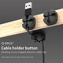 Кабельный фиксатор ORICO Black для 1 кабеля, фото 5