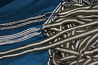 2.2 см.. лента трикотажная люрекс Хаки №1011, фото 1