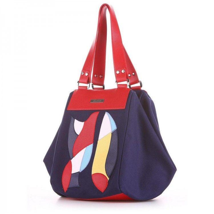 396c6e68acc6 Комбинированная сумка из искусственной кожи и хлопка Alba Soboni арт. 130279