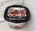 """Корзина для белья с рисунком """"London"""" 53 л  Elif Plastik, Турция, фото 2"""