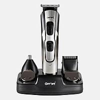Машинка для стрижки Gemei GM 592 10 в 1 + триммер для бороды, носа, ушей + подставка