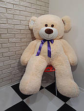 Большой мягкий Медведь - Молочный синяя лента - 1.8 метра (180 см), фото 3