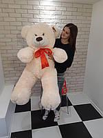 Большой мягкий Медведь - Молочный - 1.35 метра (135 см)
