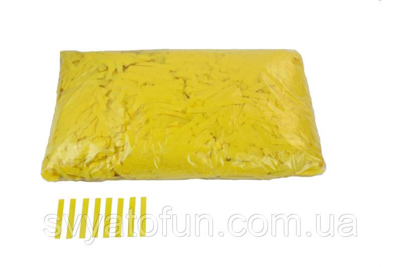 """Конфетти """"Тонкие полоски"""", цвет желтый,  50 г."""