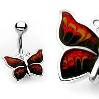 Пирсинг пупка PiercedFish BUT-7/B в форме бабочки
