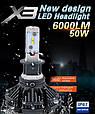 Комплект светодиодных ламп головного света LED X3-H1 15 ксенон Xenon X3-H1 15 LED, фото 8