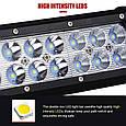 Автофара LED (36 LED)  5D-108W-MIX прямоугольная автофара 108W на 36 ламп , фото 5