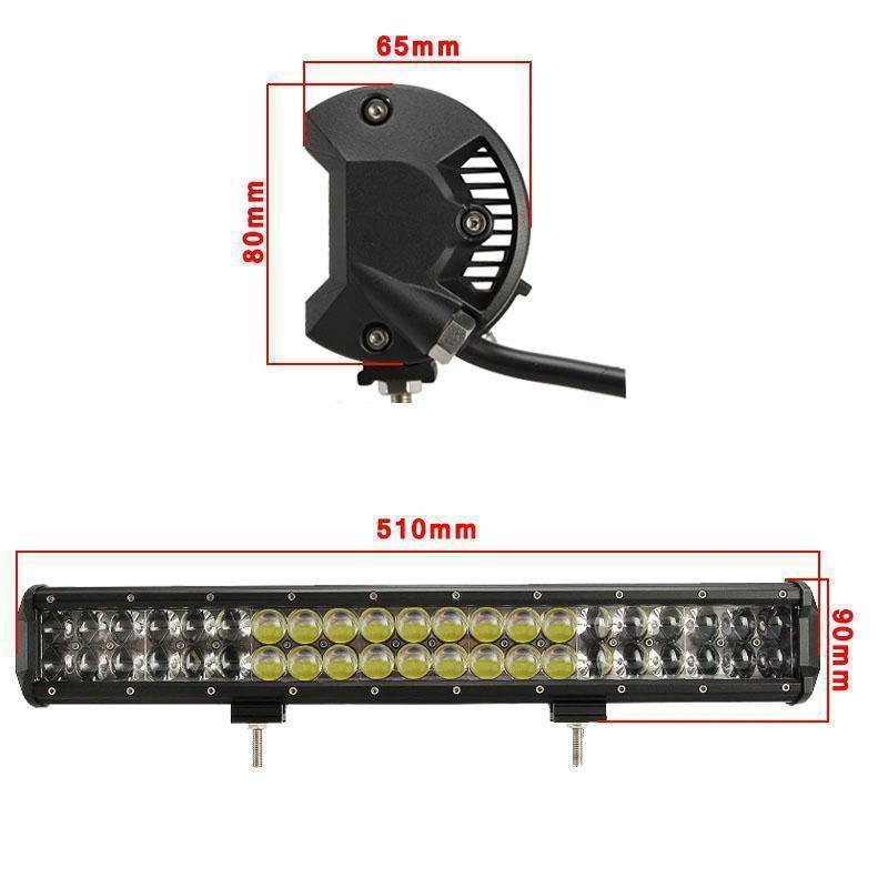Автофара LED (42 LED) 5D-126W-MIX прямоугольная автофара 1126W на 42ламп