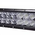 Автофара LED (66 LED) 5D-198W-SPOT прямоугольная автофара 195W балка на 66 ламп , фото 6