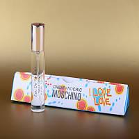Женский мини парфюм Moschino Cheap and Chic I Love Love (Москино) 15 ml в треугольнике DIZ