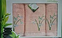 Набор бамбуковых полотенец. Бамбуковые полотенца в подарочной упаковке.