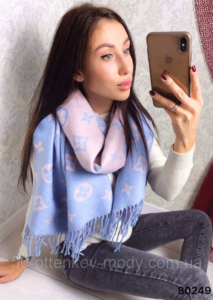 Женский шарф палантин с логотипом Louis Vuitton много цвеов
