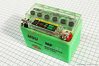 Аккумулятор 4Аh (гелиевый, зеленый) 113/70/85мм с ИНДИКАТОРОМ