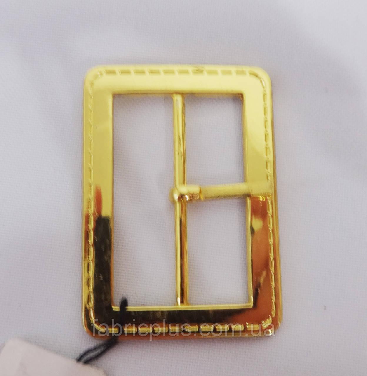 Пряжка металл 40 мм золото