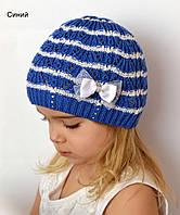 Акция! Веер ажурная весенняя шапка, р.48-52 хлопок 60% (мал.размер) голубой, салат, синий, фото 1