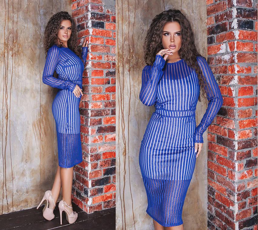 Платье  верх сетка с блестками / 4 цвета арт 8330-404