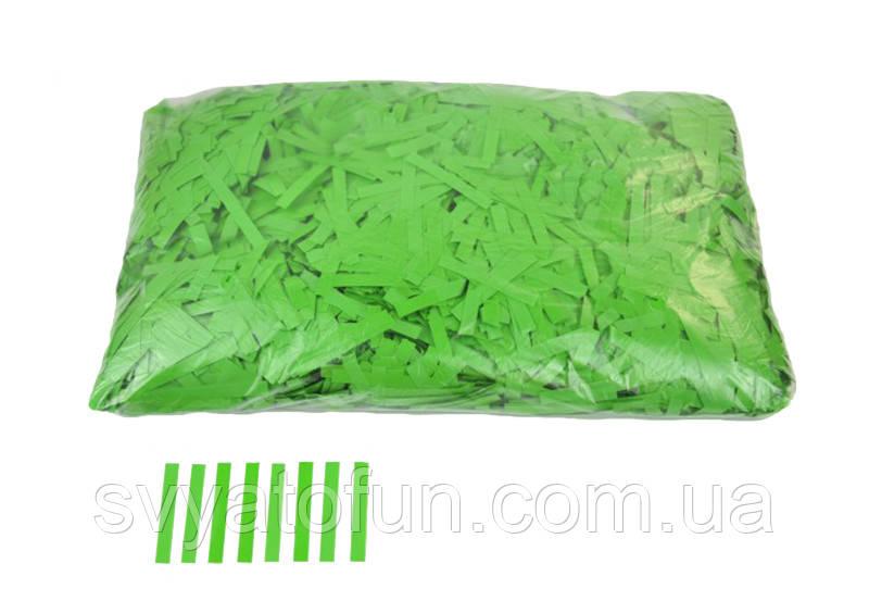 """Конфетти """"Тонкие полоски"""", цвет зеленый, 250 г."""