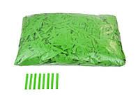 """Конфетти """"Тонкие полосочки"""", цвет зеленый, 50 г."""