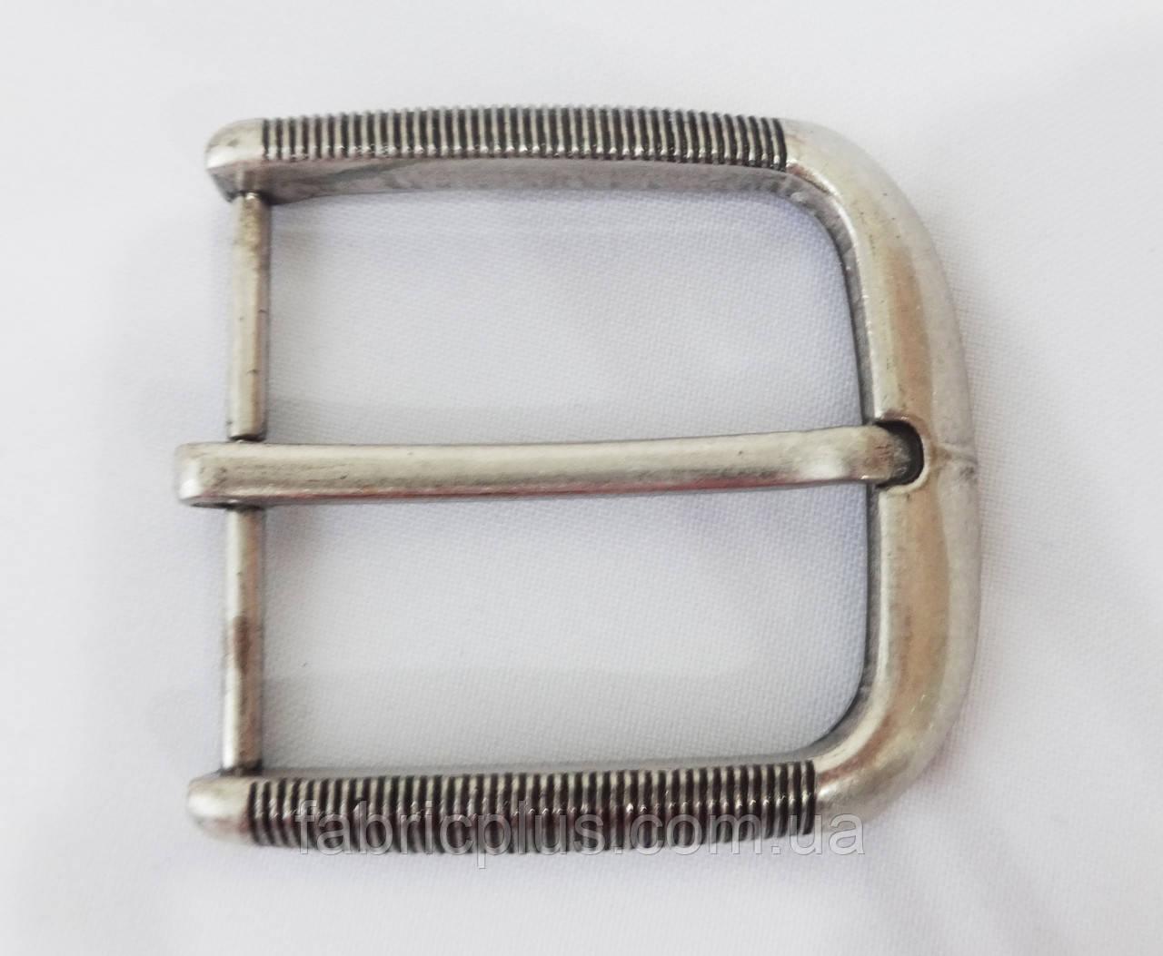 Пряжка мужская клас. 5 см/1 прокол никель мат. резьба