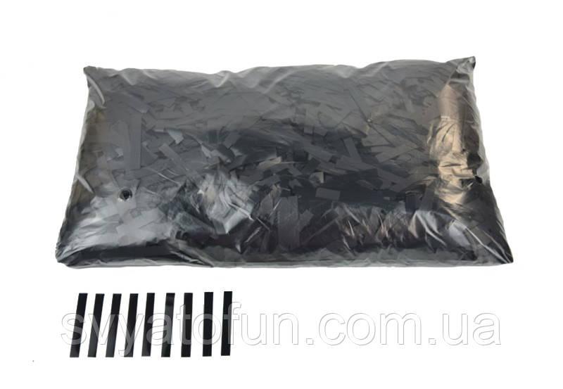 """Конфетти """"Тонкие полоски"""", цвет черный, 250 г."""