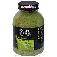 "Соль морская для ванн ""Corine de Farme Lime Tonic"" 1,3 кг"