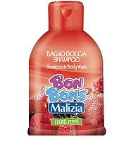 Шампунь-гель для душа лесные ягоды «Malizia Bon Bons, Mirato» 500 мл