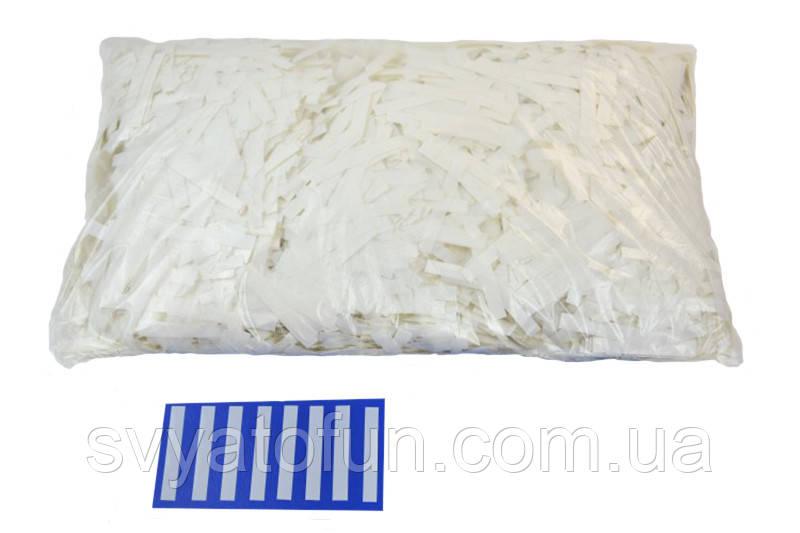 """Конфетти """"Тонкие полоски"""", цвет белый, 250 г."""
