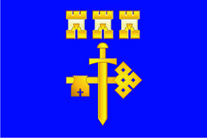 Флаг Тернопольской области 0,9х1,35 м. шелк