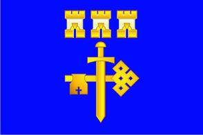 Флаг Тернопольской области  0,9х1,35 м. для улицы флажная сетка