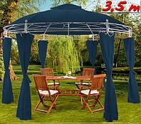 Кругла альтанка, шатер 3,5м / синя, фото 1
