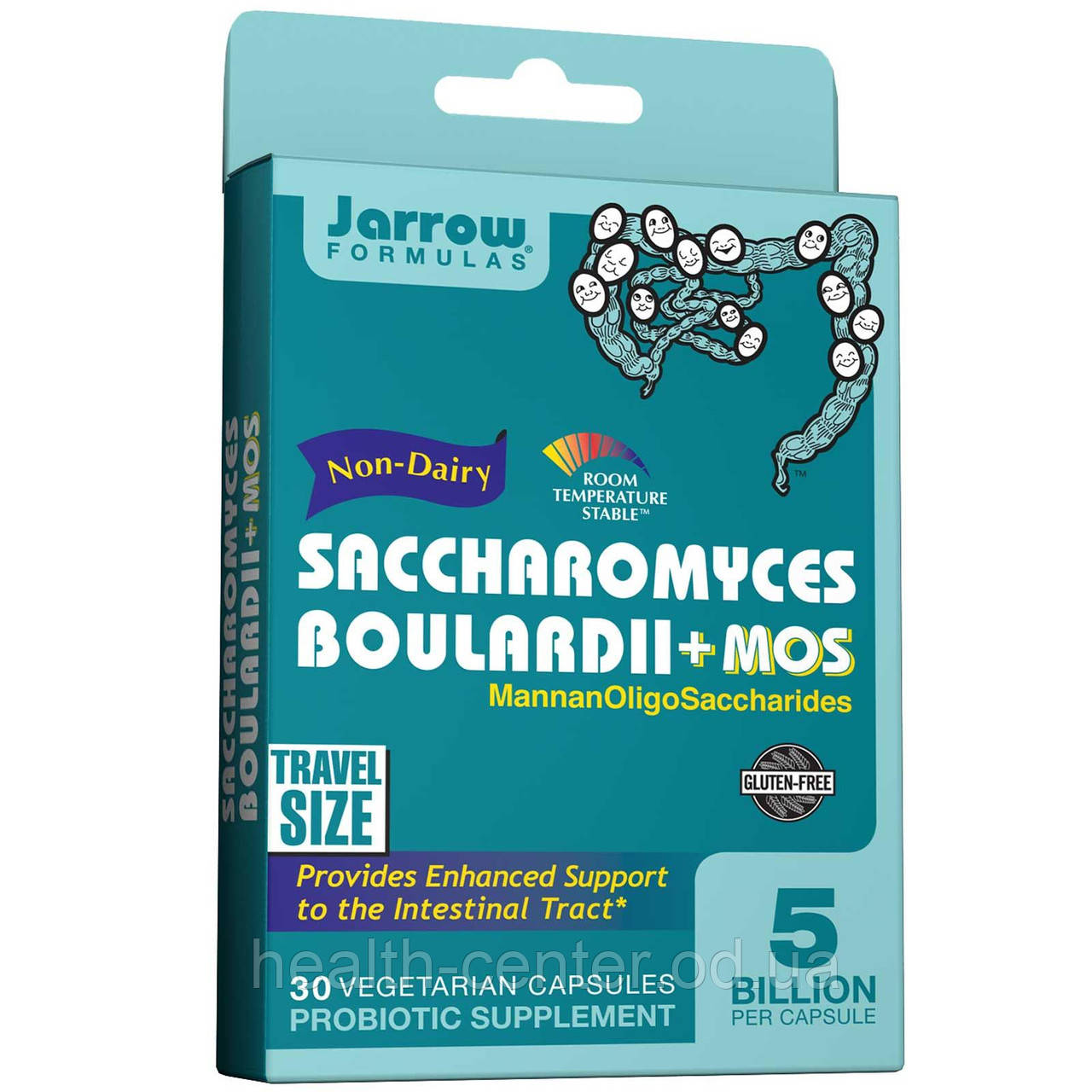 Сахаромицеты буларди + МОС (энтерол) 5 млрд 30 капс лечение кандидоза диареи  метеоризма Jarrow Formulas USA