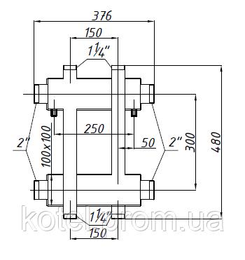 Схема распределительного коллектора СК 173.150