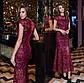 """Шикарне вечірнє жіноче плаття 41217 """"Рік Вишивка Максі"""" в кольорах, фото 4"""
