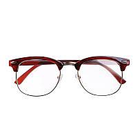 Имиджевые очки с прозрачной линзой в стиле клабмастер Коричневый