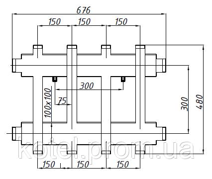 Схема распределительного коллектора СК 273.150