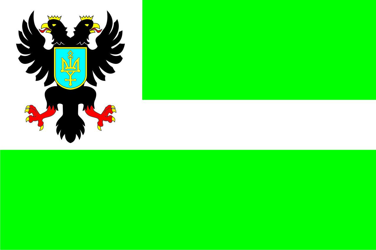 Флаг Черниговской области 0,9х1,35 м. атлас