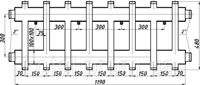 Схема коллектора распределительного СК 473.150