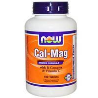 Кальций - магний, Стресс формула, Now Foods,  100 таблеток