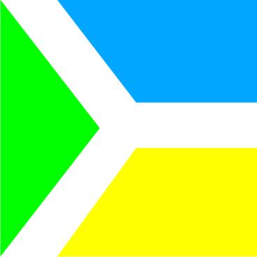Флаг города Бровары 0,9х0,9 м. атлас