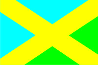 Флаг города Фастов 0,9х1,35 м. атлас