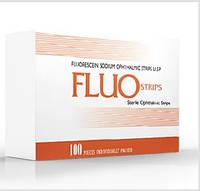 Офтальмологические тест-полоски с флюоресцеином низкомолекулярным FluoStrips, уп.100 шт.