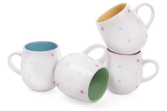 """Чашка 500мл """"Цветной горошек"""", фото 2"""