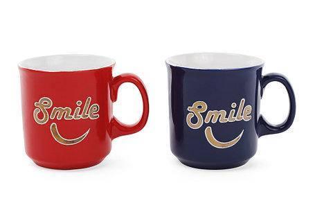 """Чашка 475мл """"Smile""""с золотой надписью, фото 2"""
