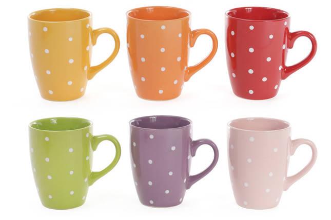 """Чашка 330мл """"Горошек"""" (яркие цвета), фото 2"""