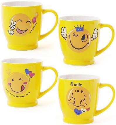 """Чашка 230мл """"Смайлик"""" кофейная желтая, фото 2"""