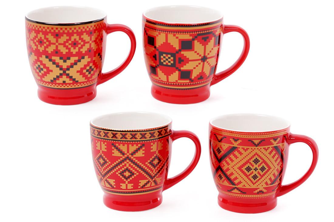 """Чашка 230мл """"Вышиванка"""" кофейная"""