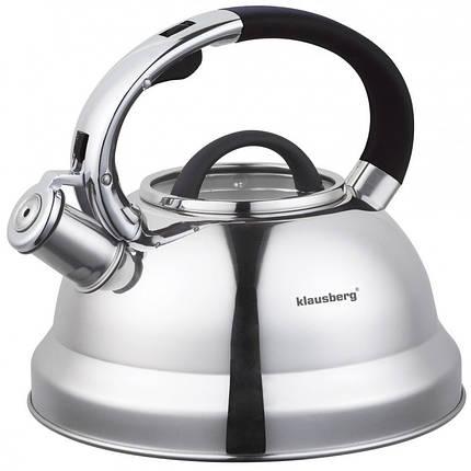 Чайник 2,5л со свистком Klausberg KB7071, фото 2