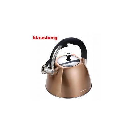 Чайник 3,0л со свистком Klausberg KB7202, фото 2